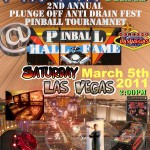 -2nd Annual PinPin Plunge off Anti Drain Fest Pinball Tournament Flyer